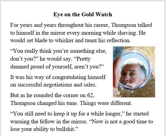 Kotcho, aging, work, career, retirement