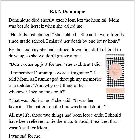 death, mom, dominique