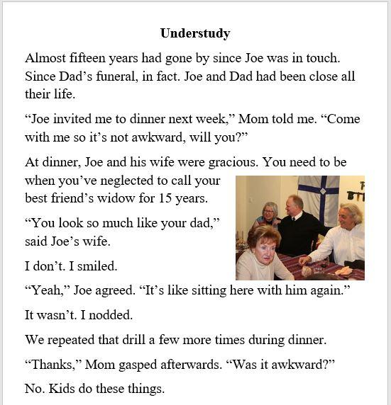 Mom, Dad, family, death, widow