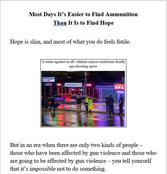 guns, hope, mass shooting, activism