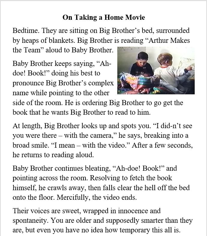 ARW, ADW, parenthood, reading
